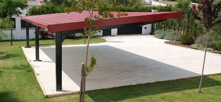 cubierta chapa sandwich patio pergola acero moderna original diseo porche terraza techos moviles para terrazas