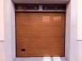 puerta seccional  madera roble liso